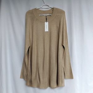 NWT Calvin Klein Beige Tan Pullover Sweater Large
